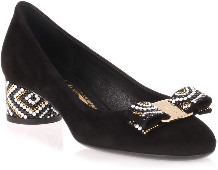 Salvatore Ferragamo Eva Mosaic beaded pump