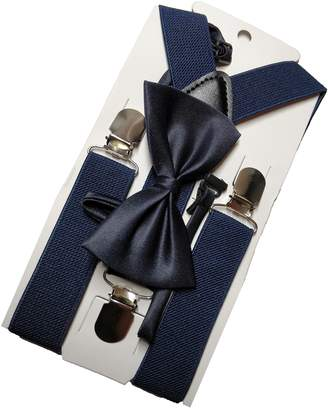 primeCS Bow Tie and Suspender Set - Imported Premium Material for Kids, Toddlers, Boys