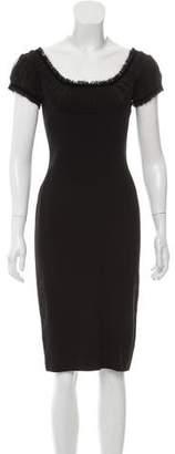 Alexander McQueen Cap Sleeve Sheath Dress