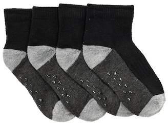 Joe Fresh Basic Sport Quarter Crew Socks - Pack of 4 (Toddler Boys)