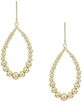 Kenneth Jay Lane Gold w/ White Pearl Open Oval Direct Post Earrings Earring