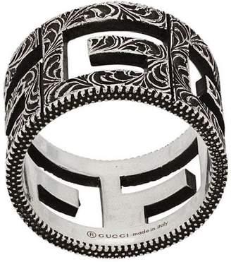 Square G motif ring