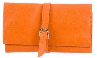 Longchamp Leather Travel Jewelry Pouch