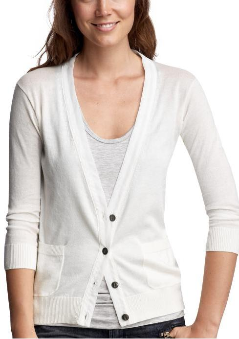 Silk-trimmed cardigan