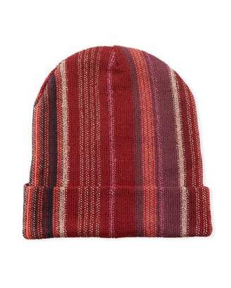 a60fb22ec76 Missoni Wool-Blend Metallic Striped Knit Hat