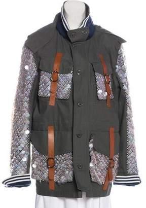 Rodarte Embellished Oversize Coat