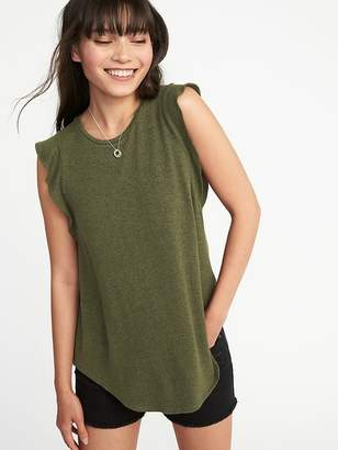 Old Navy Luxe High-Neck Ruffle-Sleeve Top for Women