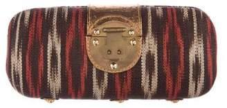 Kotur Leather-Trimmed Clutch
