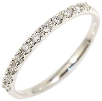 Vandome Aoyama Platinum & Diamond Half Eternity Ring Size 4.25