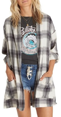 Women's Billabong Live Out Loud Flannel Cardigan $59.95 thestylecure.com