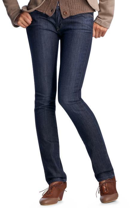 Back patch skinny jeans