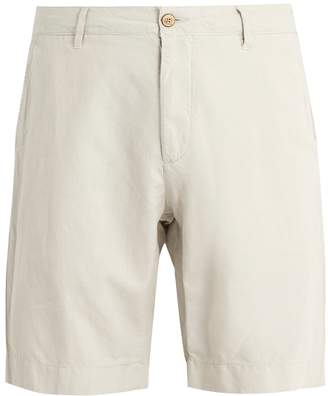 Faherty Mid-rise straight-leg cotton-blend shorts