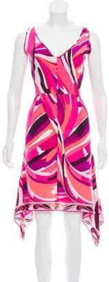 Emilio Pucci Asymmetrical Silk Dress
