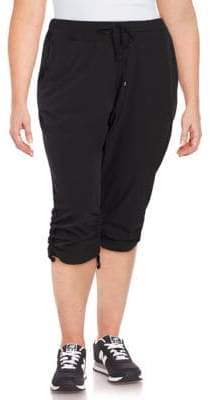 Andrew Marc Performance Plus Plus Ruched Commuter Capri Pants
