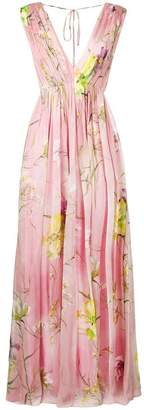 Blumarine floral print pleated dress
