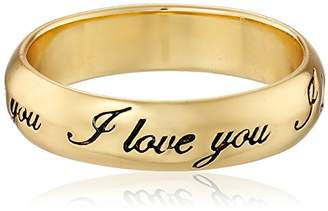 "Plated Sterling Silver ""I Love You"" Ring"