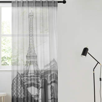 Essentially Homeliving Black & White Eiffel Single Panel Curtain
