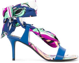 Emilio Pucci Aruba print tie up sandals