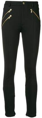 Versace zip front leggings