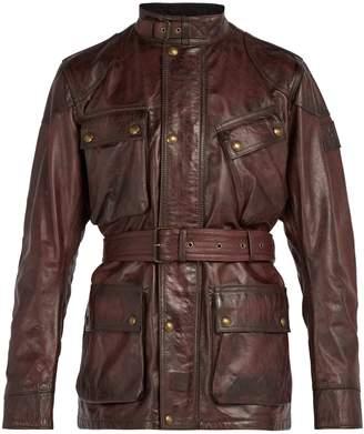 Belstaff Panther asymmetric pocket leather jacket