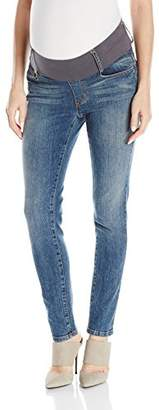 Maternal America Women's Maternity Skinny Ankle Denim Jeans,XS