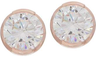 Diamonique TOVA 6.00 cttw Stud Earrings, Sterling or 14K Gold Clad