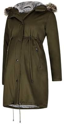 Séraphine Penelope Maternity Parka Coat, Khaki
