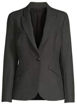 Elie Tahari Allegra Dotted Plain Weave Suiting Jacket