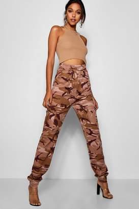 boohoo Tall Camo Loop Back Cargo Trousers