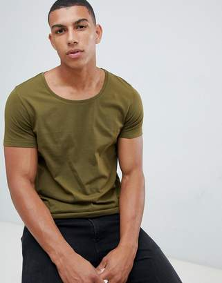 Asos DESIGN t-shirt with scoop neck in green