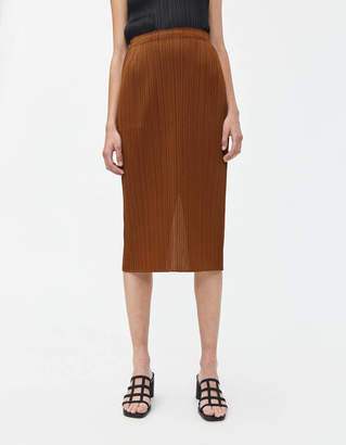 Pleats Please Issey Miyake Monthly Colors Skirt in Brown
