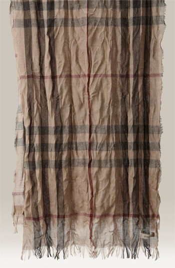 Burberry Giant Check Crinkled Scarf