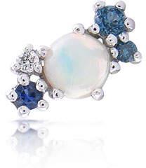 Stevie Wren 14k White Gold Opal & Diamond Mini Cluster Ear Climber, Left