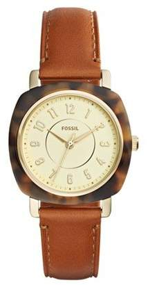 Fossil Women's 'Idealist Slim' Quartz Resin and Leather Casual Watch