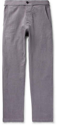 The Lost Explorer Tapered Slub Organic Cotton Trousers
