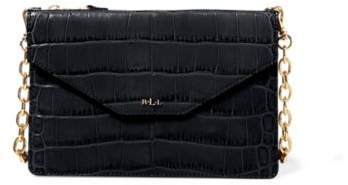 Ralph Lauren Embossed Erika Crossbody Bag Black One Size