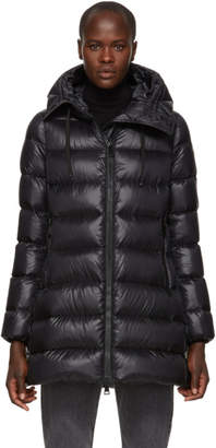 Free Shipping at SSENSE · Moncler Black Down Suyen Jacket