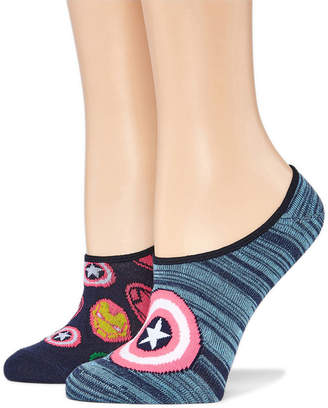 Asstd National Brand 2 Pair Liner Socks - Avengers Multi