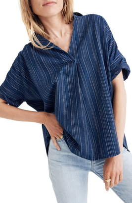 Madewell Courier Button Back Shirt in Cecile Stripe