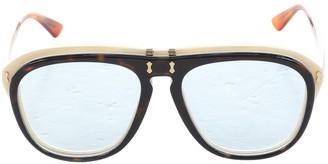 Gucci Brown Plastic Sunglasses