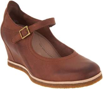 Earth Nubuck Wedge Mary Janes - Boden