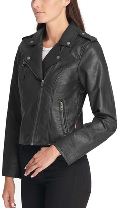 Levi's Levis Women's Classic Faux-Leather Motorcycle Jacket