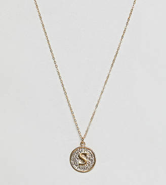 Ottoman Hands gold plated S initial pendant necklace