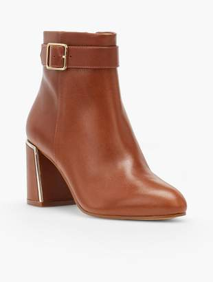 Talbots Simone Flare-Heel Ankle Boots