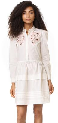 Rebecca Taylor Long Sleeve Medallion Dress $395 thestylecure.com