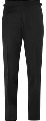 Tom Ford Black O'Connor Slim-Fit Wool and Mohair-Blend Tuxedo Trousers - Men - Black