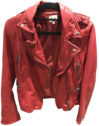 Bel Air Red Leather Jacket for Women