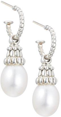 Lagos Luna Hoop Pearl Drop Earrings, 10mm $340 thestylecure.com