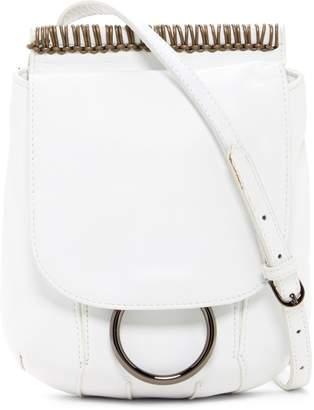 Christopher Kon Foldover Stitch Leather Crossbody Bag