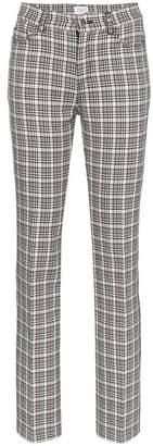 Giambattista Valli Check wool-blend trousers